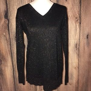 A NEW DAY MED BLACK WITH COLORFUL SPARKLES SWEATER